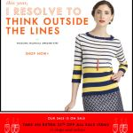 I Resolve to Think Outside the Lines Kate Spade email
