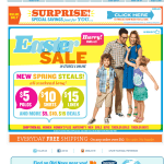 Old Navy email design: Easter Sale