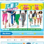 Old Navy email design: Pop Pants