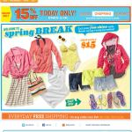 Old Navy email design: Spring Break