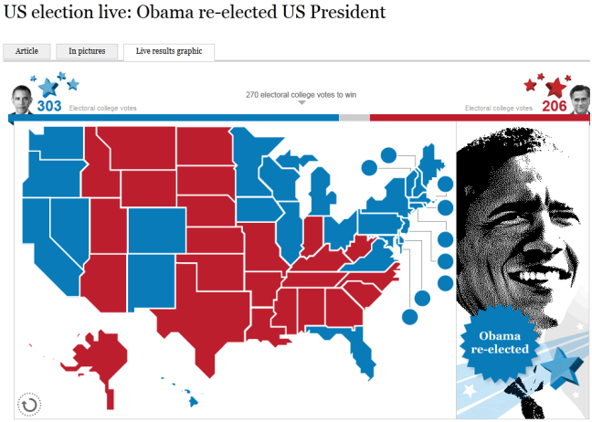 The Times 2012 US Presidential Election Results Map