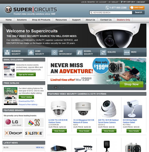 Supercircuits website