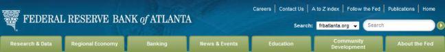 Atlanta federal reserve bank website navigation