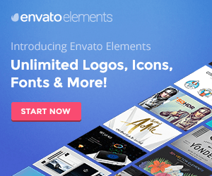 Envato Elements banner ad design example
