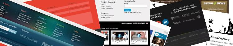 Website footers design gallery banner