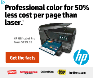 HP banner ad design example