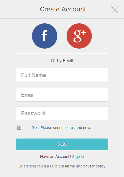 Magisto website carousel design example