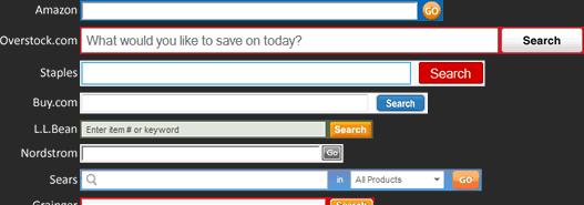 Comparison of website search box size