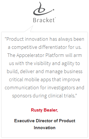 Appcelerator pull quote design example