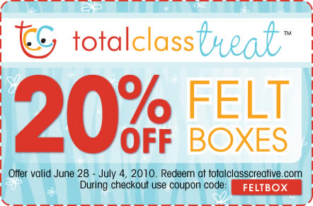 Total Class Creative online coupon design example