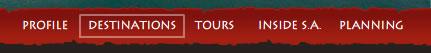 African S Capes website navigation design example