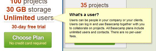 Basecamp web tooltip design example