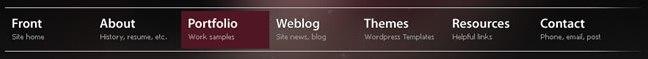 Evan Eckard Design website navigation design example