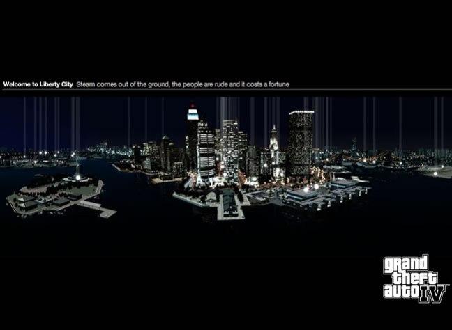 Grand Theft Auto 4 video game website design example