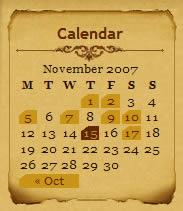 Infocreek calendar design example