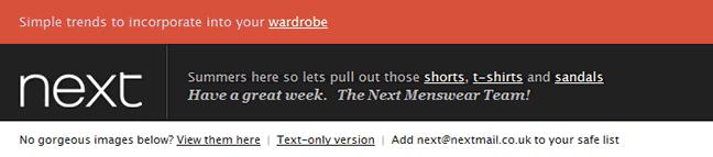 Next email header design example