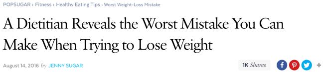 Pop Sugar headline typography example