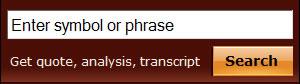 Seeking Alpha search box design example