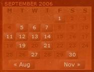 Personal Babblishing calendar design example