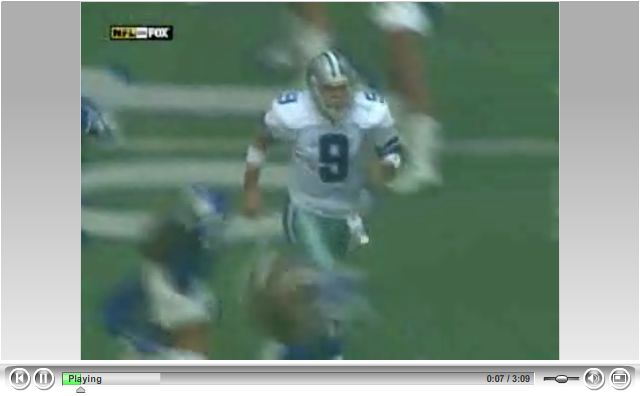 NFL web video player design example