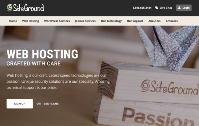 SiteGround website home page