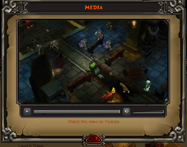 Torchlight video player design example
