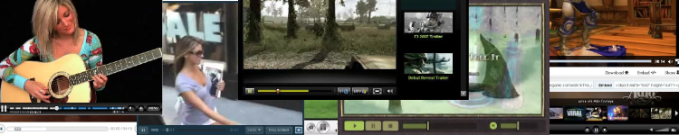 Online video player design gallery banner