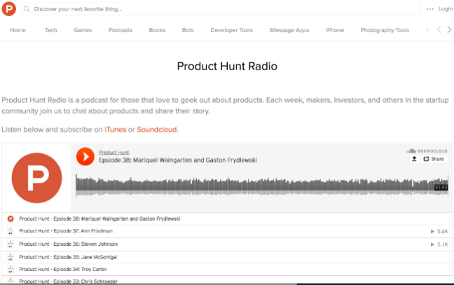 Product Hunt Radio podcast