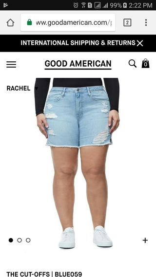 Good American size 14 model mobile website PDP