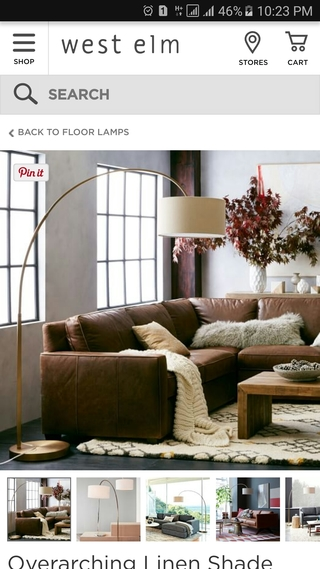 west elm mobile website PDP