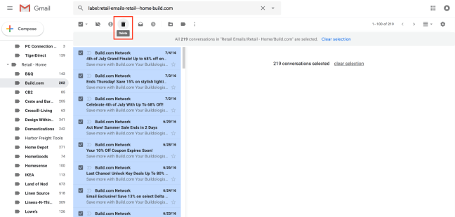 How to Mass Delete All the Emails in a Folder in Gmail