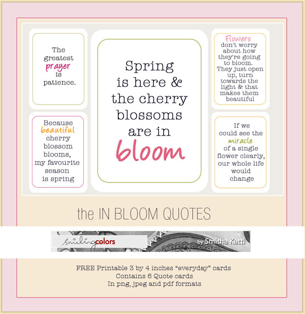 Freebie Printable In Bloom Quote Cards Smitha Katti