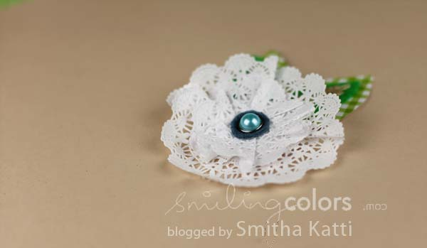 Tutorial How To Make A Doily Flower Smitha Katti