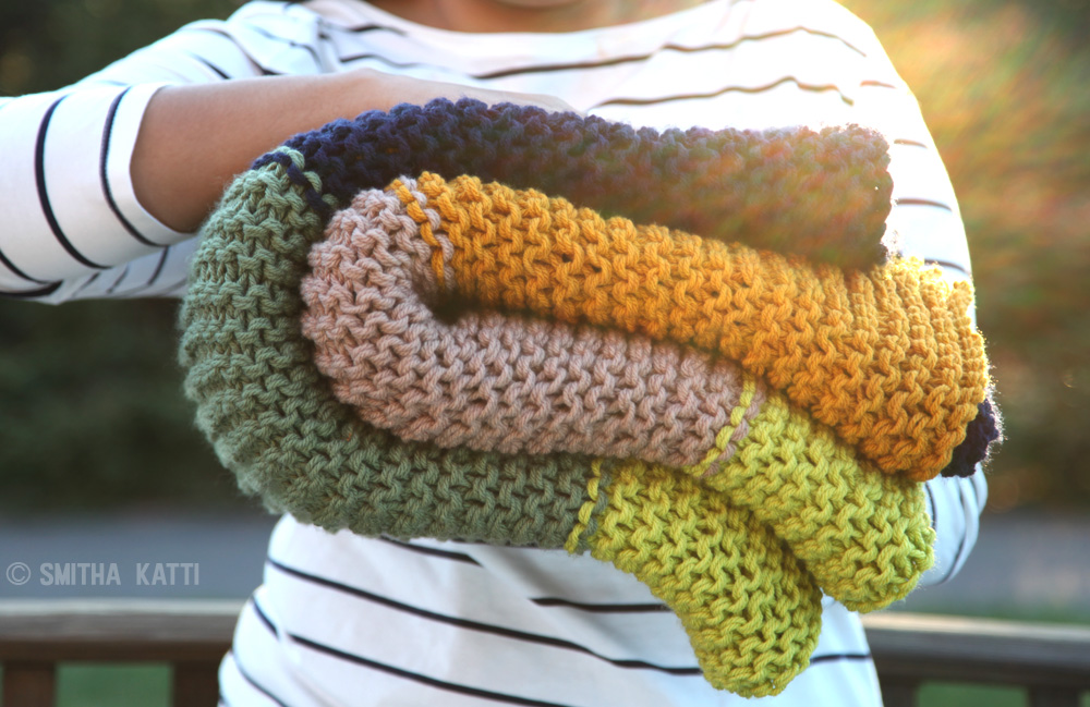 The Handknit Color Blocked Afghan Smitha Katti