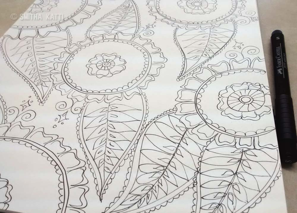 Free Coloring Pages For Adults With Quotes : Free printable adult coloring pages smitha katti