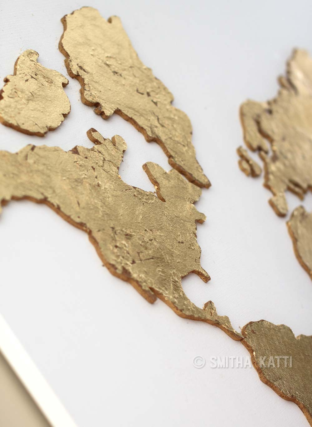 Diy world map wall art that is easy to make and unique smiling diy world map wall art cork gumiabroncs Image collections