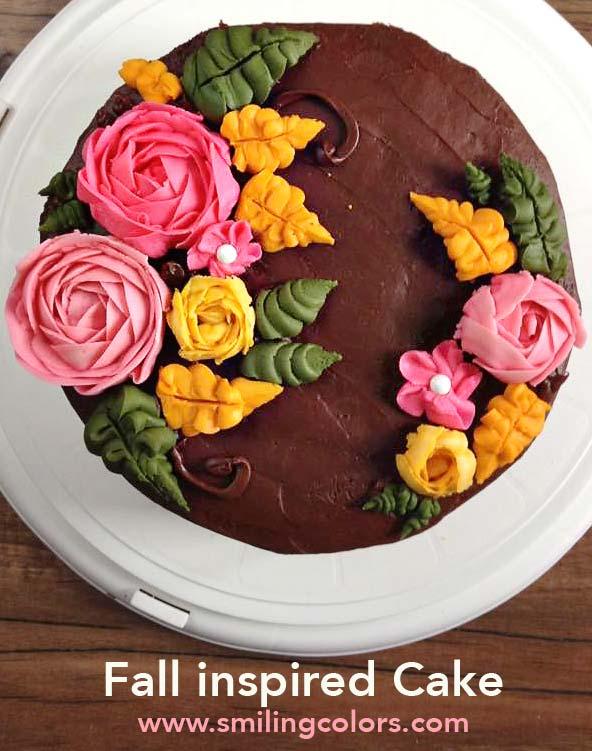 Autumn inspired cake