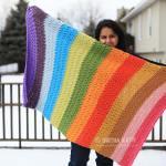 Rainbow Knit Blanket Pattern