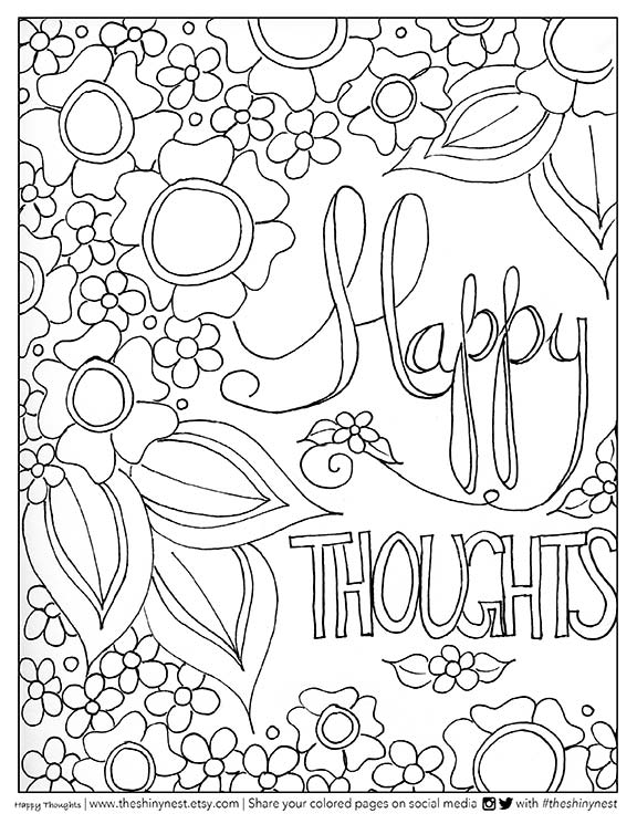 Happy Thoughts Adult Coloring Video