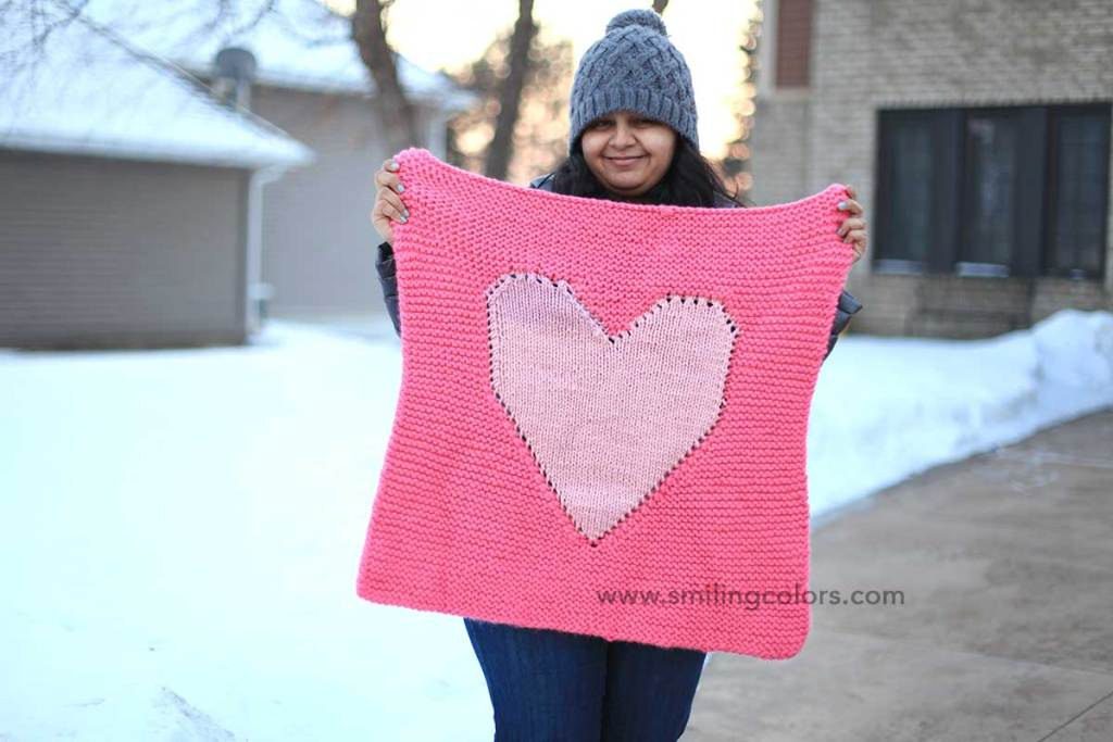 Heart baby blanket knitting pattern smith katti