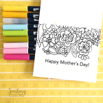 Free printable mothers day card to color and gift