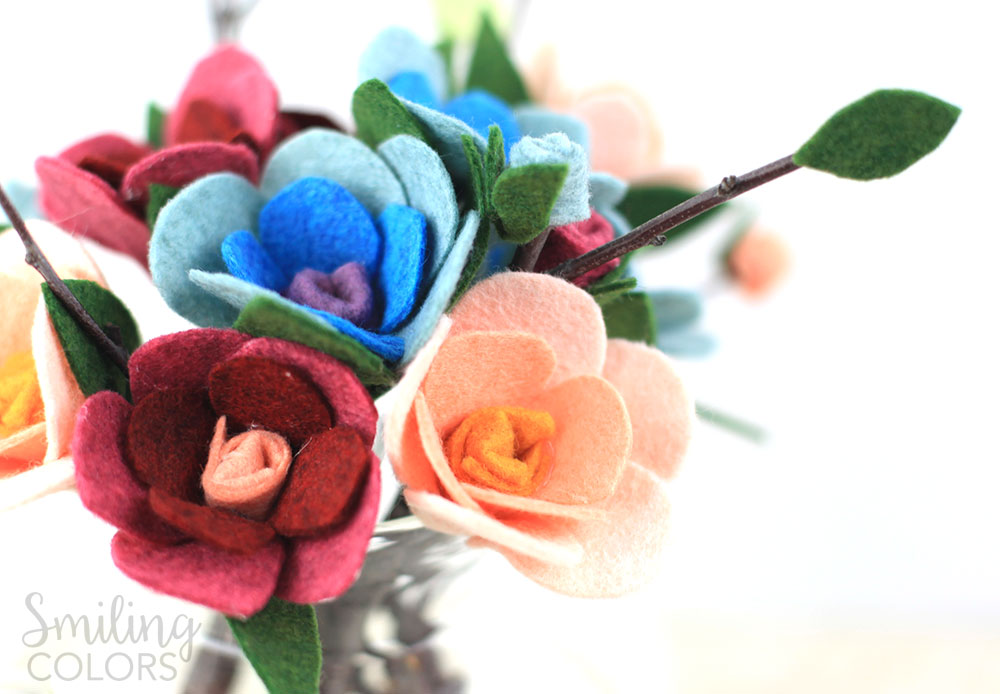 flowers with felt video