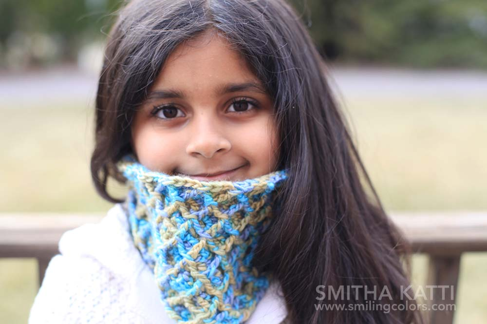 make a crochet cowl