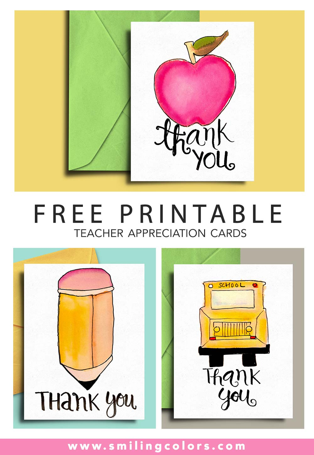 21 FREE Printables: Thank you card for Teacher and School Bus Pertaining To Thank You Card For Teacher Template