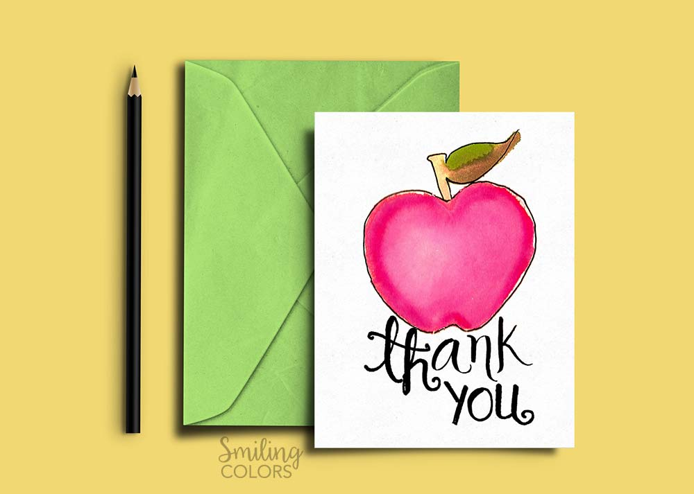 Thank you card for Teacher and School Bus Driver with FREE ...
