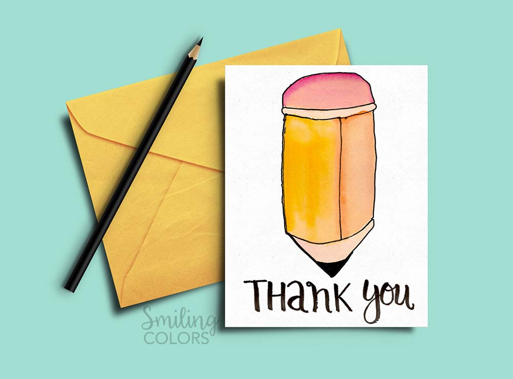 Thank you card for teacher and school bus driver with free printables free teacher day card printable solutioingenieria Choice Image