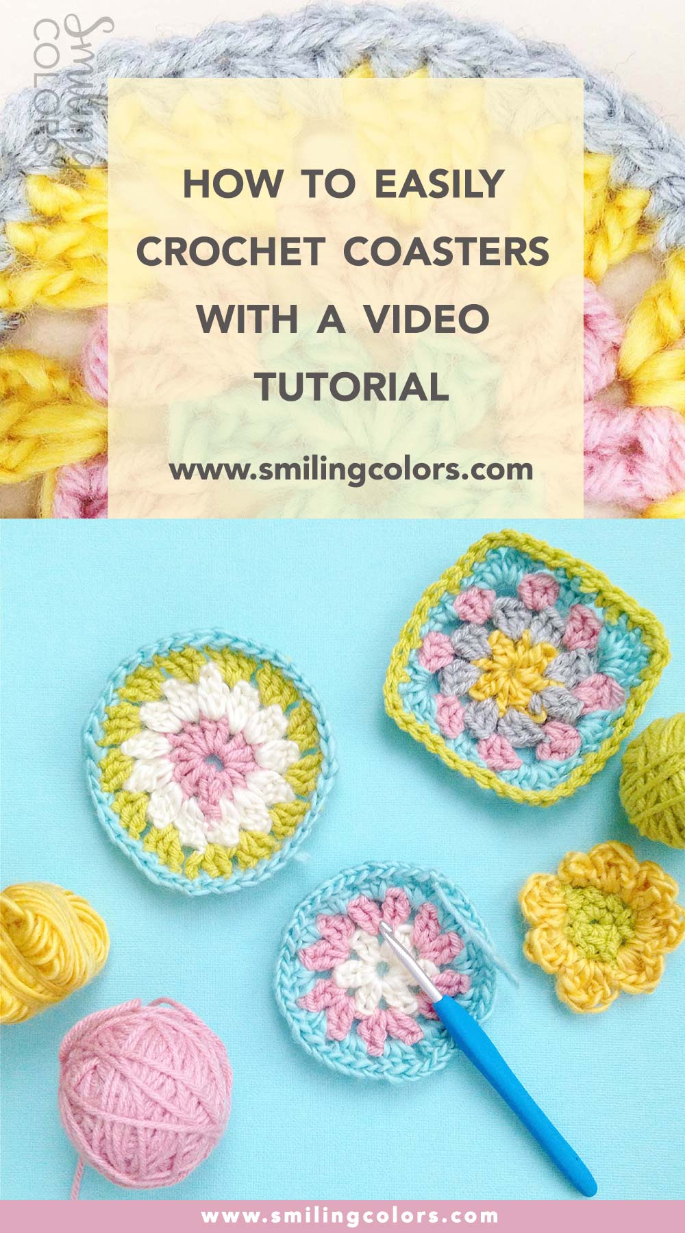 How To Easily Crochet Coasters With A Video For Beginners Smitha Katti