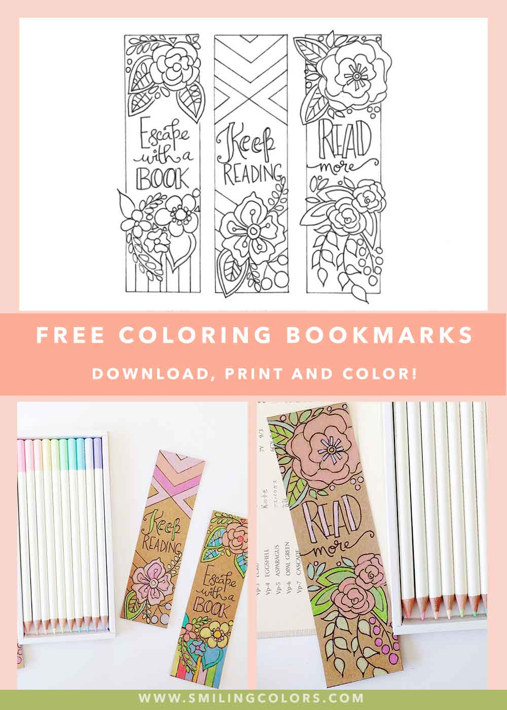 picture relating to Free Printable Bookmarks Pdf named Absolutely free coloring bookmarks in direction of crank out your looking at vibrant