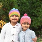 Caron cupcakes crochet hat