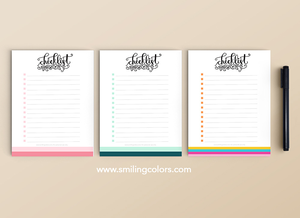 printable to do list free download comes in a few pretty colors